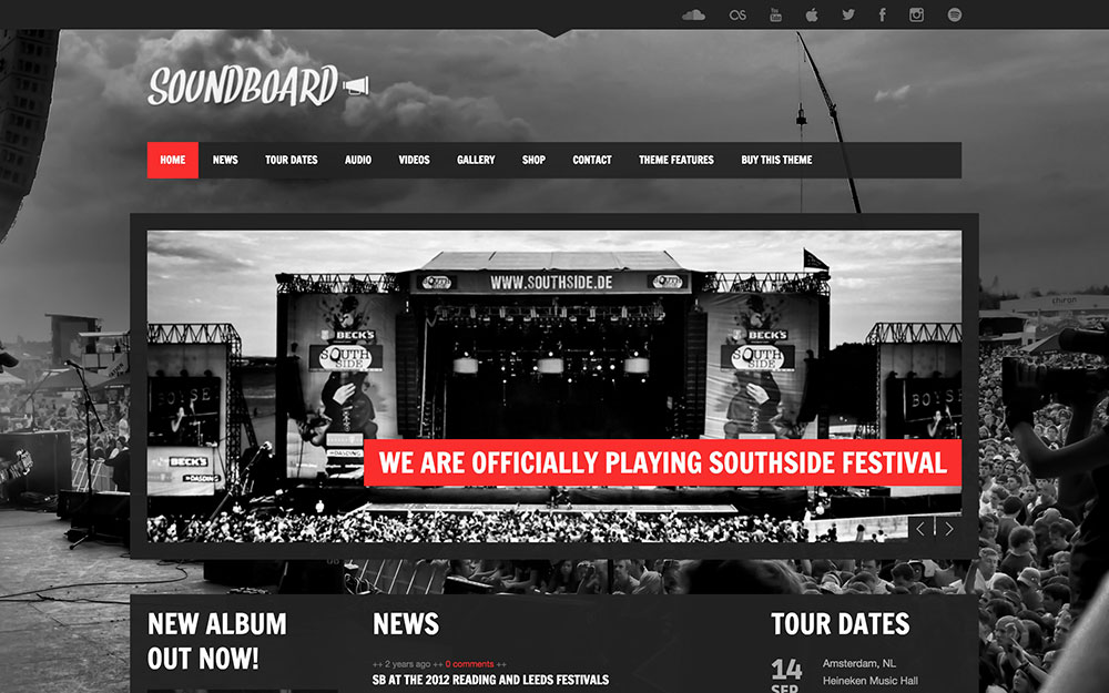 Musikhemsida